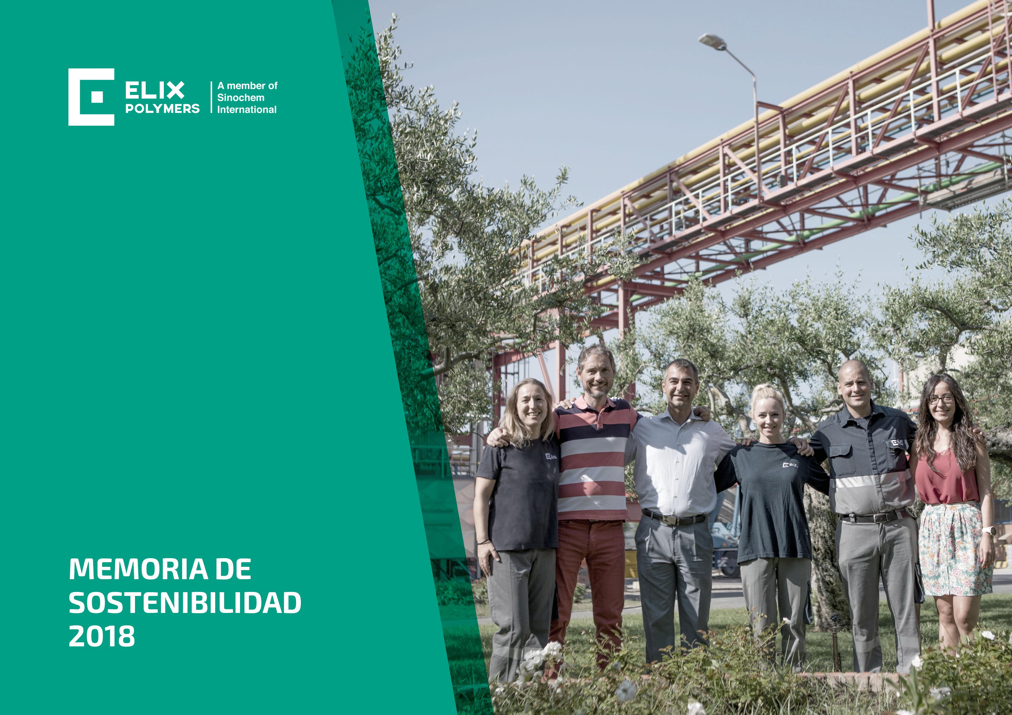 ELIX Polymers publica memoria sostenibilidad 2018