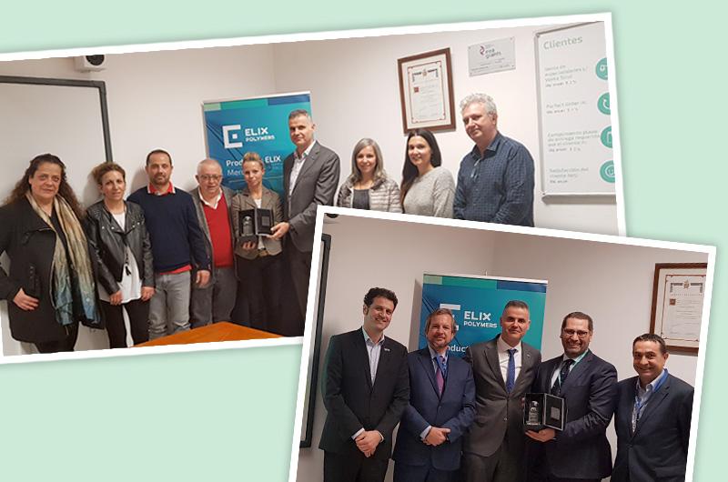 ELIX Polymers premia galardón Mejor Proveedor Año 2018